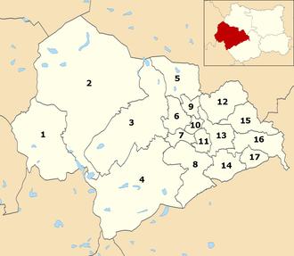 Calderdale Metropolitan Borough Council - Wards within Calderdale Council