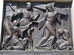 Calvary of Karl I of Austria. Station 4. Jesus meets his mother. - Tihany.JPG