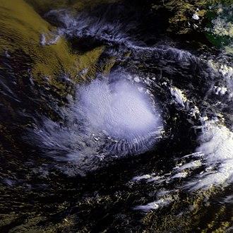 1987 Pacific hurricane season - Image: Calvin 07 july 1987 1502Z