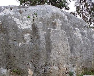 Qana - Bas-Relief of the Apostles in Qana, a Christian pilgrimage site in Lebanon