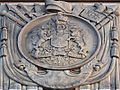 Canadian Coat of Arms detail on Memorial Arch (by John M Lyle) Royal Military College of Canada.JPG