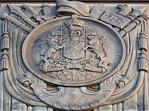 John M. Lyle - Image: Canadian Coat of Arms detail on Memorial Arch (by John M Lyle) Royal Military College of Canada