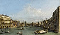 Canaletto - The Grand Canal looking south from Ca' Foscari to the Carità RCIN 401404.jpg