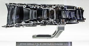 Canon EF 200–400mm lens - Image: Canon EF 200 400mm cut