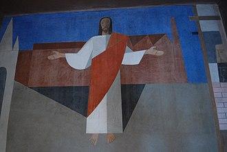 Alfredo Volpi - Jesus Christ, painted by Alfredo Volpi.