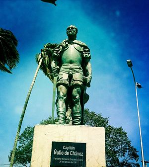 Ñuflo de Chaves - Monument of Ñuflo de Chávez in Santa Cruz, Bolivia.
