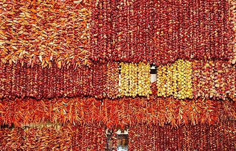 Dried Capsicum, Mercado dos Lavradores, Funchal, Madeira