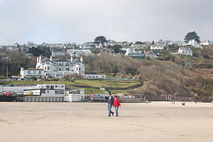 Carbis Bay - The beach at Carbis Bay with the Carbis Bay Hotel behind