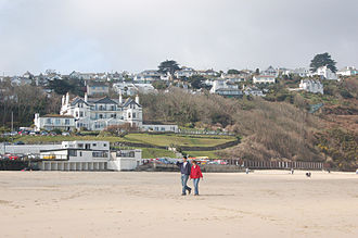 Carbis Bay - Beach at Carbis Bay with the Carbis Bay Hotel behind
