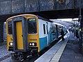 Cardiff-bound train in Llanhilleth Station - geograph.org.uk - 1157323.jpg