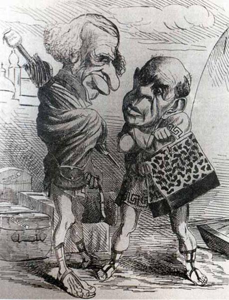 File:Caricatura de Sarmiento y Velez Sarsfield.jpg