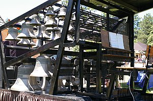 Carillon - A traveling carillon at the Colorado Renaissance Festival in June 2008