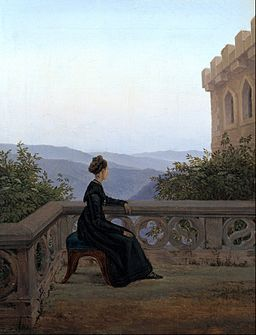 Carl Gustav Carus - Woman on the Balcony - Google Art Project