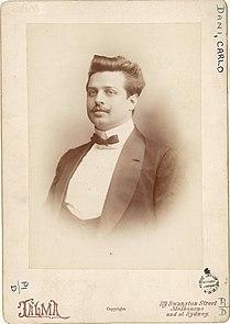 Carlo Dani, Italian tenor in Sydney, 1902 - photograph by Talma (4267708732).jpg