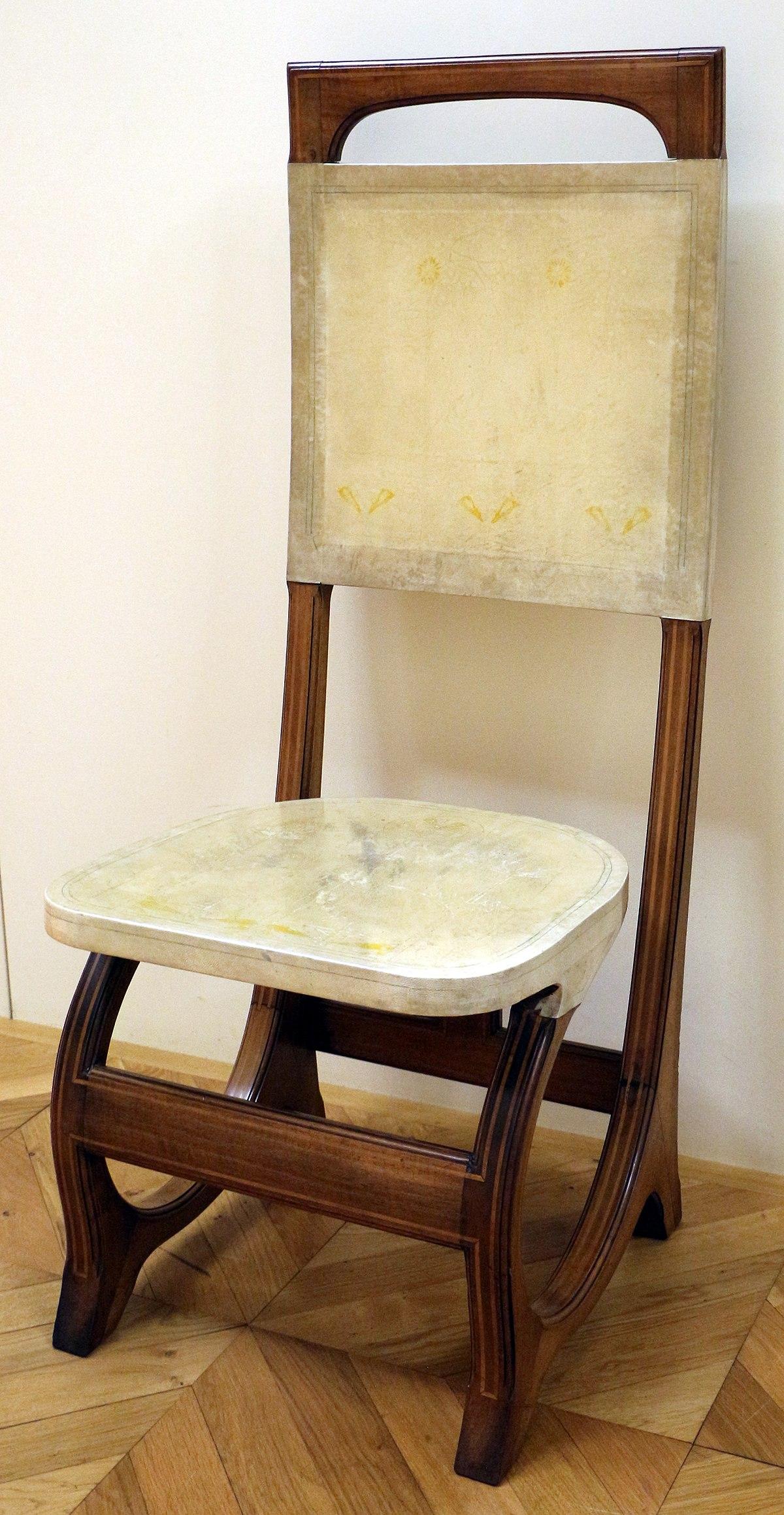 File:Carlo bugatti, coppia di sedie da sala da pranzo, 1904 ...