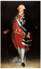 Karol IV w mundurze pułkownika Gwardii de Corps