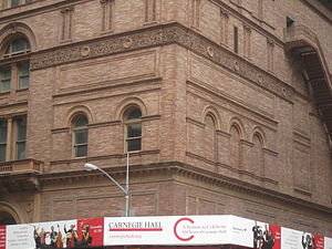 Carnegie Hall - Closeup view of Carnegie Hall