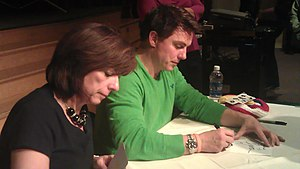 Carole Barrowman - John and Carole Barrowman signing copies of Hollow Earth (novel) at Alverno College