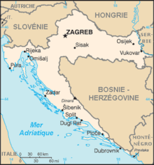 Zagreb Carte Europe.Croatie Wikipedia