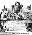 Cartoon depicting Leopold 2 and other emperial powers at Berlin conference 1884.jpg