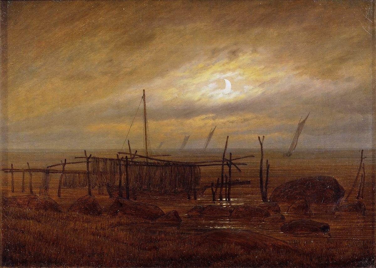 File:Caspar David Friedrich - Meeresküste im Mondlicht, 1818.jpg - Wikipedia