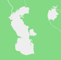 Location of Chechen Island.