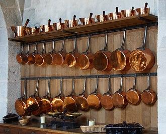 Kitchenware - Copper saucepans, Vaux-le-Vicomte castle