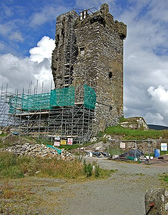 Castle Donovan - Structural works at Castledonovan in 2007