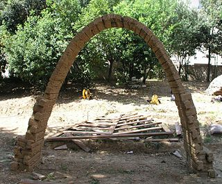 Catenary arch A catenary arch is an architectural pointed arch that follows an inverted catenary curve
