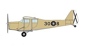 Aviación Nacional - A Caudron C.286 of the Nationalist Spanish Air Force