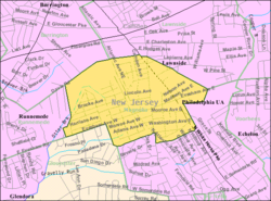 Census Bureau map of Magnolia, New Jersey