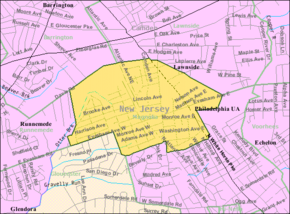 Census Bureau map of Magnolia, New Jersey.png