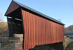 National Register of Historic Places listings in Doddridge County, West Virginia - Image: Center Point Covered Bridge Side View