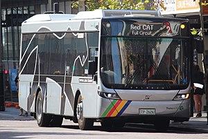Perth Central Area Transit - Volgren Optimus bodied Volvo B8RLE.