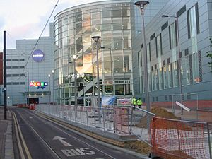 Architecture of the London Borough of Croydon - Centrale shopping centre, managed by St Martins Property Group was completed in 2004 and includes a House of Fraser store