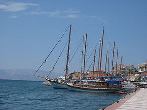 Çeşme - Yachts in Çeşme harbor