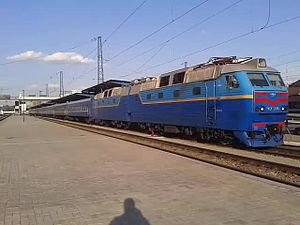 Файл:ChS7-220 departs from Dnipropetrovsk.webm