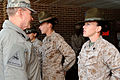 Chairman of the Joint Chiefs of Staff Gen. Martin E. Dempsey talks with U.S. Marine Corps drill instructors at the 4th Recruit Training Battalion, Parris Island, S.C., on March 21, 2013 130321-F-UN972-011.jpg