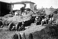 Chalon (Isère) battage en 1933.jpg