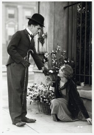 City Lights - The Tramp and the Flower Girl