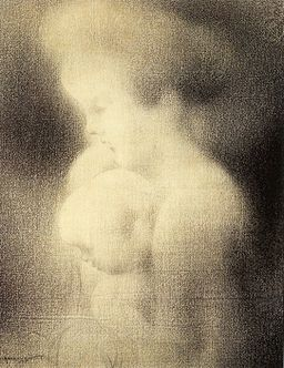 Charles Angrand, Mother and Child