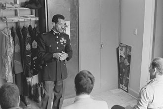 Charles Bolden - Bolden speaking at a USMC recruiting event in 1982
