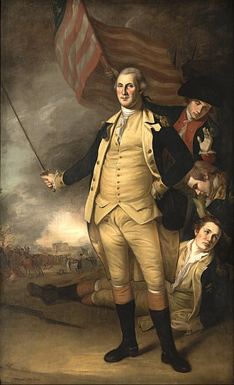 Hugh Mercer - Charles Wilson Peale portrait of Washington; Mercer; Rush and Lewis