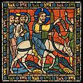 Chartres VITRAIL DE LA VIE DE JÉSUS-CHRIST Motiv 23 Les Rameaux - apôtres et Jésus-Christ sur l'ânesse.jpg