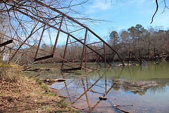 Historic bridges of the Atlanta area - Jones Bridge after collapse, February 2018