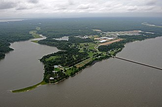 Cheatham Annex - Aerial photograph of Naval Weapons System Yorktown, Va and Cheatham Annex (June 17, 2009)