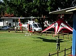 Chegada do Helicóptero Águia 14 (PR-SMU) da Polícia Militar no Domingo com o Astronauta. Evento comemorativo dos 10 anos do primeiro brasileiro no espaço, o Astronauta bauruense Marcos Pontes. - panoramio (3).jpg