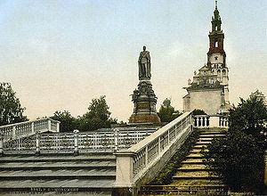 Pomnik cara Aleksandra II, kt�ry sta� przed Jasn� G�r� w latach 1889-1917