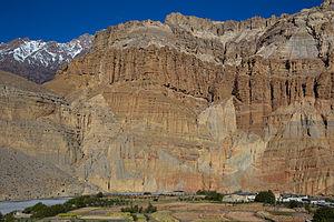 Chhusang - Image: Chhusang cliffs