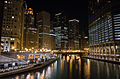 Chicago river from Michigan avenue bridge at night.jpg